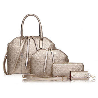 Harga Set of 4 Elegant Faux Crocodile European Designer Leather Handbags Bags