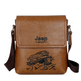 Harga New Leather Bag Mini Shoulder Bag Messenger Bag Backpack Man Purse Tablet Computer Business Casual Crossbody Bag (Brown)