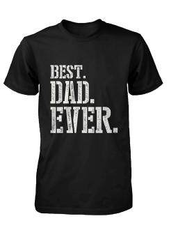 Harga GVM Best Dad Ever Stencil Style T-Shirt - Father's Day Gift Idea, Gift for Dad