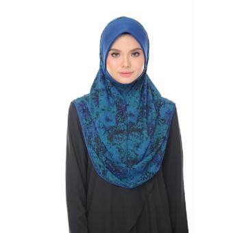 Harga Aisya Printed Express Hijab (L) with Electric Blue Awning