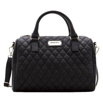 Harga Mango Quilted Bowling Handbags (Black)