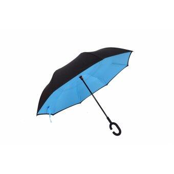 Harga Inverted Inside-Out Umbrella With C-Hook Handle - Light Blue