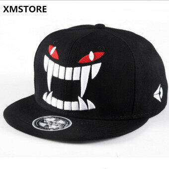 Harga 2017 High Quality Cotton Unisex Little Devil Snapback Hat Monster Baseball Cap Men Women Leisure Hip Hop Caps Bones Gorras W156
