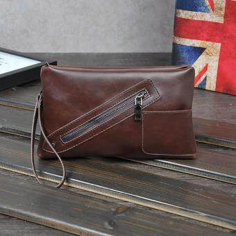 Harga Men Tote Bag Men's Mobile phone bag Leisure bag(Coffee)