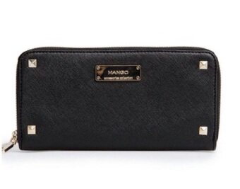 Harga Mango Stylish Saffiano Effect Purse/Wallet (Black)