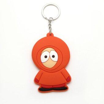 Harga Anime Cartoon South Park Kenny McCormick Keychains Pendants Rubber Figures Key Ring Cute Jewelry Accessories Gift Jewelry Orange