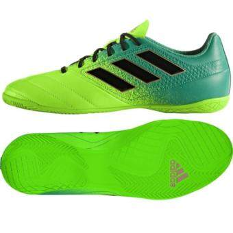 Harga 2017 Latest Adidas Ace 17.4 Indoor Futsal Court Shoe Green
