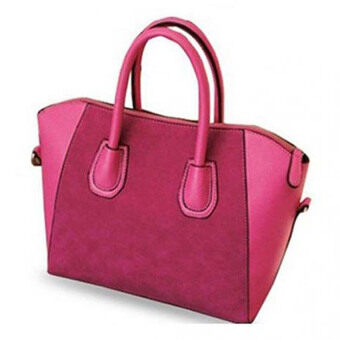 Harga MonCoeur Elegant Faux Leather Handbags (Pink)