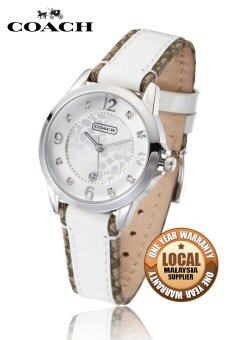 Harga Coach Women's White Leather Strap Watch 14501460