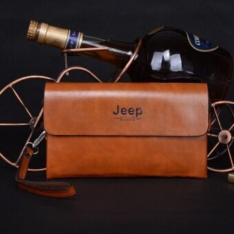 Harga New 2016 Men Handbag - Jeep Leisure Large Wallet Men's Clutch Phone Bag (Camel)
