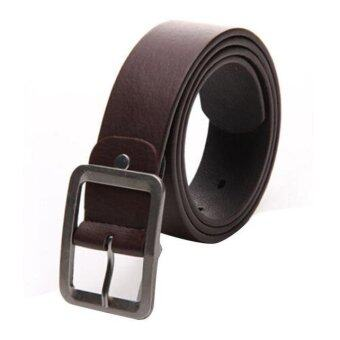 Harga Men's Casual Faux Leather Belt Buckle Waist Strap Belts Coffee