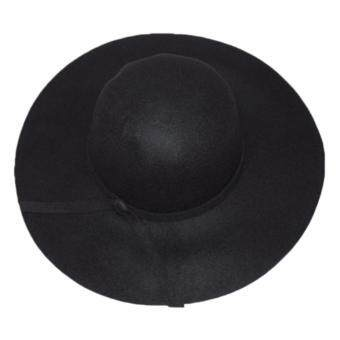 Harga Hequ Hot New Women s Lady with Wide Brim Wool Felt Bowler Fedora Hat chic style Black chic style Black