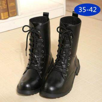 Harga LCFU764 New Fashion England Style Dr. Martin Boots Couple's Martin Shoes Women Marten Dr Designer Motorcycle Boots