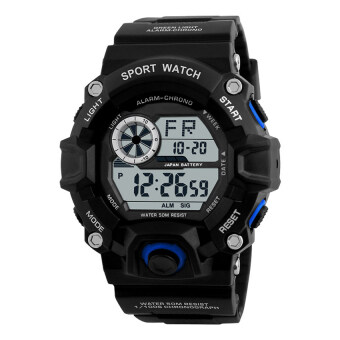 Harga Skmei 1019 Digital Watch Men Camouflage Wrist Watch (Black Blue)