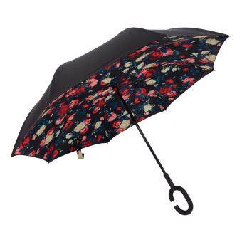 Harga Inverted Inside-Out Umbrella With C-Hook Handle - Rose
