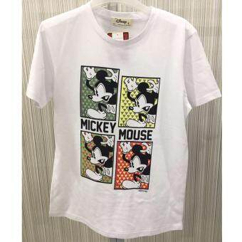 Harga Disney Mickey MIC-MT-04 White Unisex Short Sleeve Tee