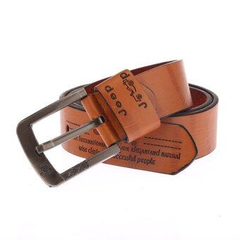 Harga Man's Belt Leather Cute Belts MBT80103 (Brown)