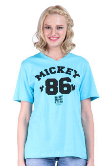 Harga Disney Mickey MIC-MT-967 L.Blue Unisex Short Sleeve Tee