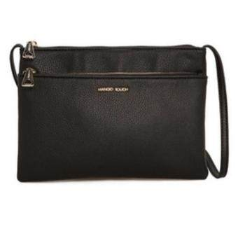 Harga Mango Double Compartments Crossbody Bag (Black)
