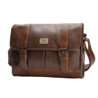 Harga 360WISH Three-box Casual Business Men PU Leather Flap-Over Cross Body Bag Messenger Shoulder Bag Briefcase Bag - Light Coffee