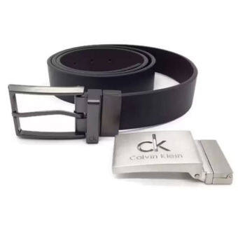 Harga Calvin Klein Belt & Buckle Set (Black)