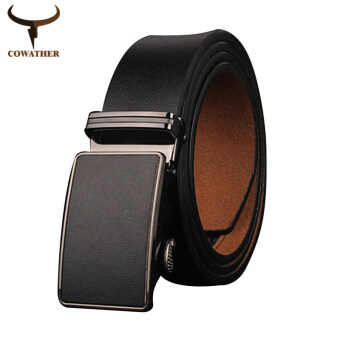 Harga COWATHER 2016 New Cow Genuine Leather Men Belts Luxury Automatic Strap Belts for Men Cowhide Belt