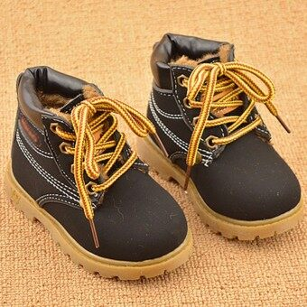 Harga Kids Shoes Boys Girls Foots Winter Children Lace Up Casual Martin Snow Boots