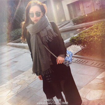 Harga Autumn Winter Spring Classic Style Cotton Scarf/scarves/cappa/tippet/shawl for women/ladies/girls PureColor Grey