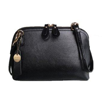 Harga Maire Quinn Saffiano Effect Fashion Leather Handbag_Black