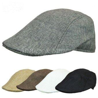 Harga Casual Men Women Duckbill Ivy Cap Golf Driving Sun Flat Cabbie Newsboy Beret Hat(Black)
