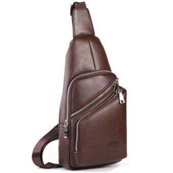 Harga Jeep Men's Leisure Chest Pack Crossbody Bag Shoulder Bag Outdoor Sports Handbag (Brown)