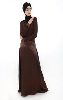 Harga Natasha Sequin Muslimah Dress (Dark Brown)