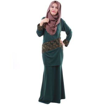 Harga PH Fashion Laila Baju Kurung (Navy Green)