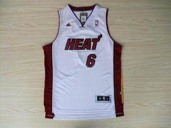 Harga NBA Men's LeBron James #6 Miami Heat Revolution 30 Swingman White Basketball Jersey