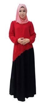 Harga Sha'ista Natasha Muslimah Dress / Chiffon Jubah For Nursing (Red)