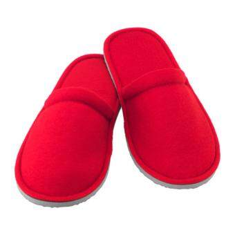 Harga IKEA NJUTA House Slippers/Home Slippers/Bedroom Slippers/Hotel Slippers, S/M, red