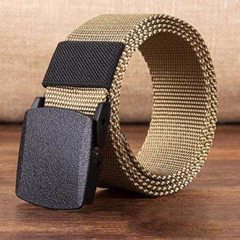 Ishowmall Men's Outdoor Sports Military Tactical Nylon Waistband Canvas Web Belt