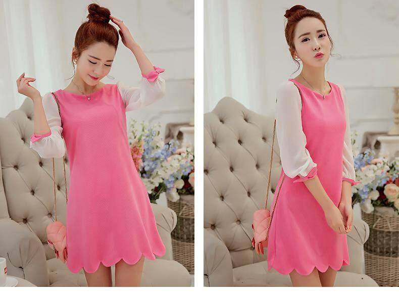 (Pre Order ETA 14/2) JYS Fashion: BUDGET & IMPRESS Korean Style Top / Dress Collection 79 5673-Pink