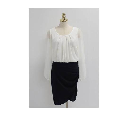 (Pre Order ETA 14/2) JYS Fashion: BUDGET & IMPRESS Korean Style Top / Dress Collection 79 6377-White