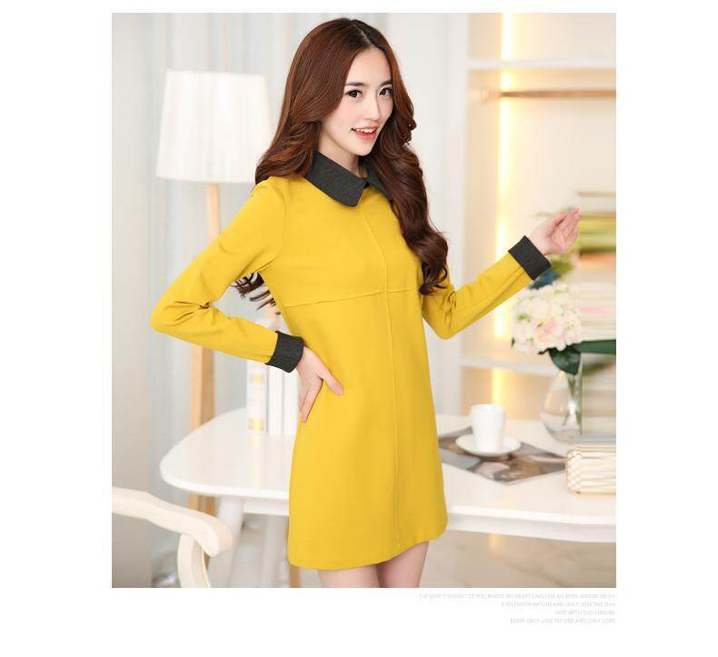 (Pre Order ETA 14/2) JYS Fashion: BUDGET & IMPRESS Korean Style Top / Dress Collection 79 6635-Yellow