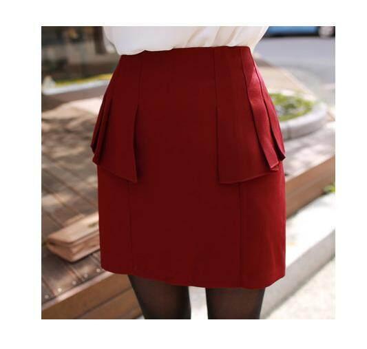 (Pre Order ETA 14/2) JYS Fashion: BUDGET & IMPRESS Korean Style Top / Dress Collection 79 80750-Red