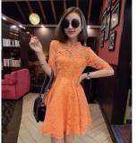 (Pre Order ETA 14/2) JYS Fashion : Cheongsam Midi Dress Collection 56 7091-Orange