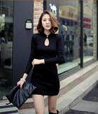 (Pre Order ETA 14/2) JYS Fashion : Cheongsam Midi Dress Collection 56 7000-Black