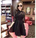 (Pre Order ETA 14/2) JYS Fashion : Cheongsam Midi Dress Collection 56 7091-Black
