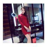 (Pre Order ETA 14/2) JYS Fashion : Cheongsam Midi Dress Collection 56 6036-Wine Red