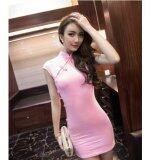 (Pre Order ETA 14/2) JYS Fashion : Cheongsam Midi Dress Collection 56 8803-Pink