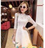 (Pre Order ETA 14/2) JYS Fashion : Cheongsam Midi Dress Collection 56 7091-White