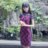 (Pre Order ETA 14/2) JYS Fashion : Cheongsam Midi Dress Collection 56 4730-Rose Red