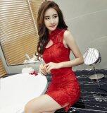 (Pre Order ETA 14/2) JYS Fashion : Cheongsam Midi Dress Collection 56 8304-Red