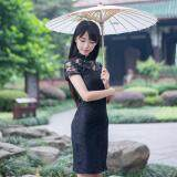 (Pre Order ETA 14/2) JYS Fashion : Cheongsam Midi Dress Collection 56 4730-Black
